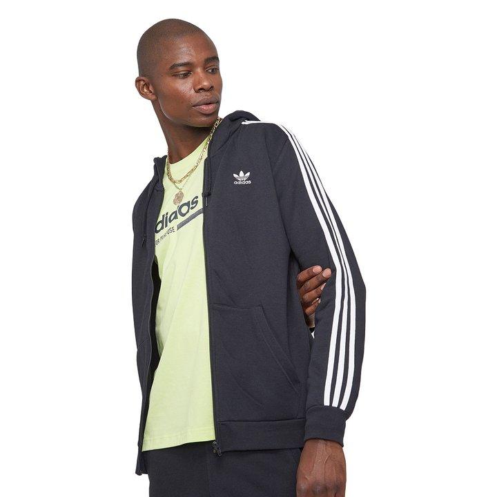 17901d49eaa Jaqueta Moletom Adidas 3 Stripes Freelace - Preto - Compre Agora ...