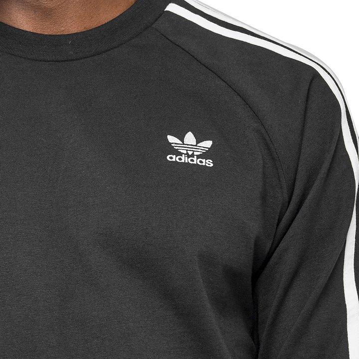 49969f70c Camiseta Adidas 3 Stripes LS - Preto | FREE LACE