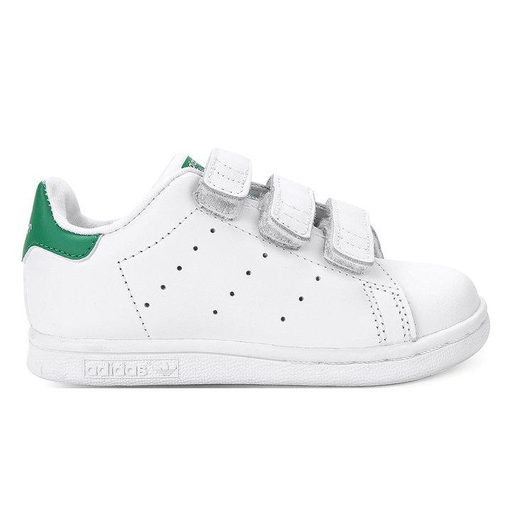 f1df94e56942 Tênis Infantil Adidas Stan Smith Cf I - Branco e Verde - Compre ...