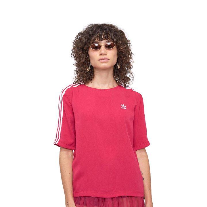 4096dcc71f7 Camiseta Adidas 3 Stripes - Pink - Compre Agora