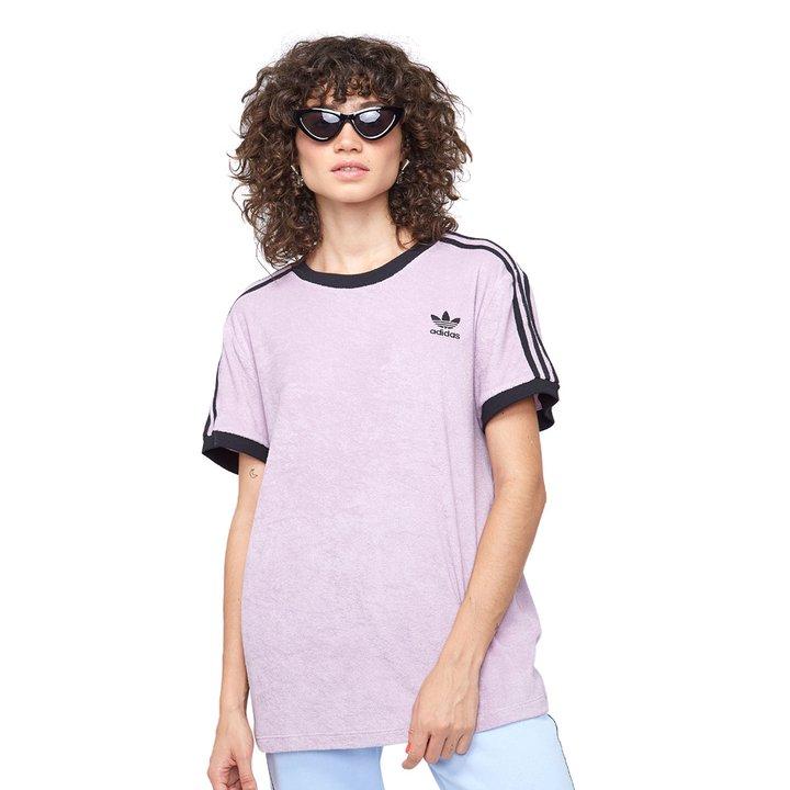 1f463ea9c79 Camiseta Adidas 3 Stripes - Roxo - Compre Agora