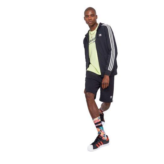 Bermuda Adidas 3 Stripes - Preto