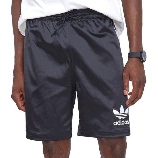 Bermuda Adidas Satin - Preto+Branco