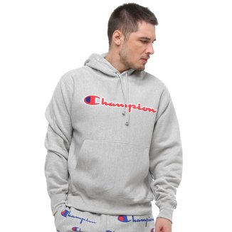 Blusa Moletom Champion Chenille Scipt Reverse Weave® Pullover Hood