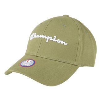 Boné Champion Aba Curva Strapback Classic Twill Hat Script