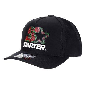 Boné Starter Aba Curva Snapback Logo Roses