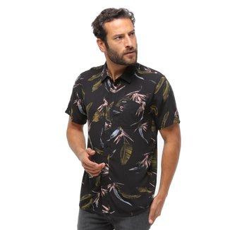 Camisa Manga Curta Volcom Floral