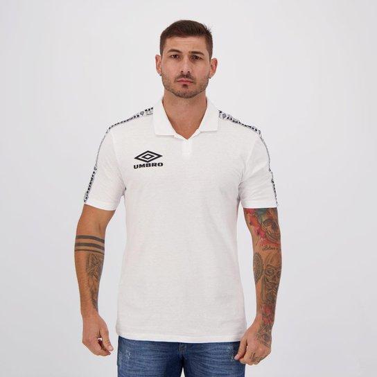 Camisa Polo Umbro Diamond Tape Masculina - Branco