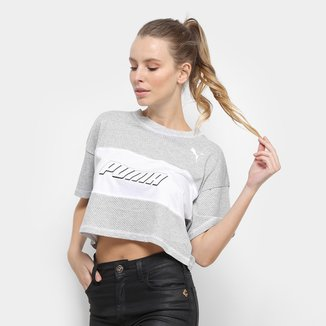 Camiseta Cropped Puma Modern Sports
