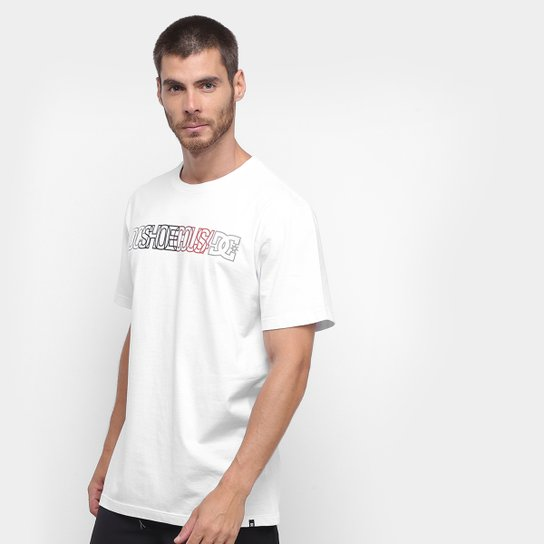 Camiseta DC Shoes Battlefield Masculina - Off White