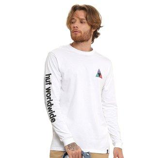 Camiseta HUF Prism Manga Longa