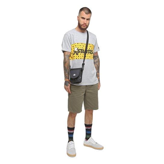 Camiseta Starter Especial Gato Felix Colorblock - Cinza