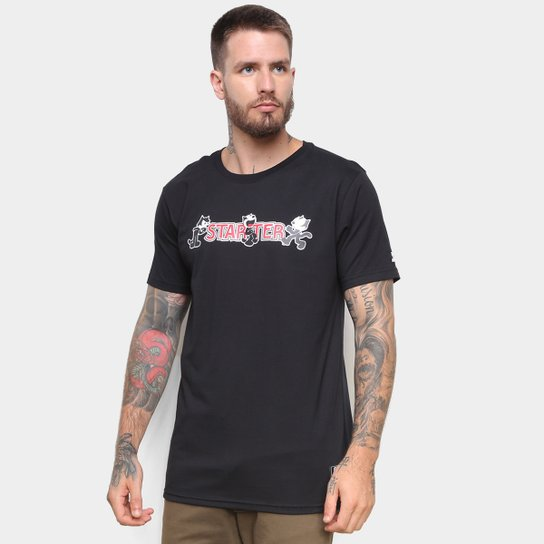 Camiseta Starter Gato Félix - Preto