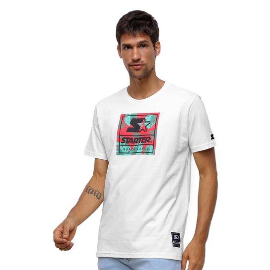 Camiseta Starter Neon Folhagens - Off White