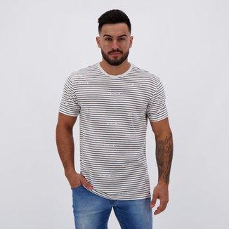 Camiseta Volcom Listrada Masculina