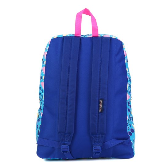 Mochila Jansport Superbreak Treasures - Azul+Pink