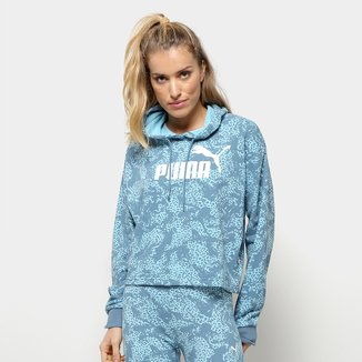 Moletom Puma Elevated AOP Cropped Feminino