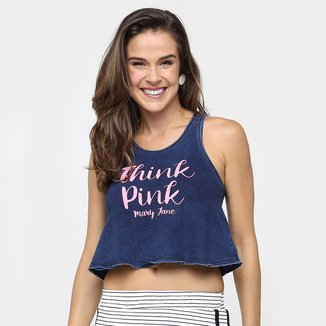 Regata Mary Jane Cropped Silk Think Pink