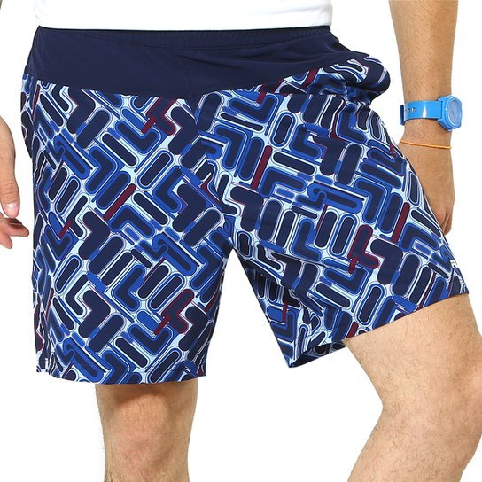Short Fila Colors - Azul