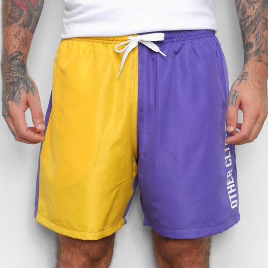 Short Other Culture Sport Bicolor - Roxo+Amarelo