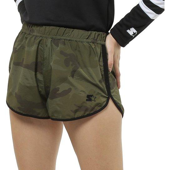 Shorts Starter Camuflado - Verde